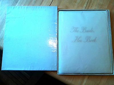 """1949 """"The Bride"""" Book Wedding Planning Guide Vintage Unused Gibson & Co."""