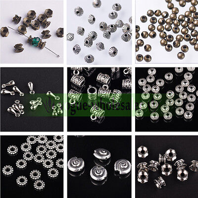 Wholesale Silver/Gold/Bronze Charms Connectors Spacer Bail Loose Beads Bracelet