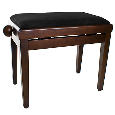 Mad About Music Mahogany Adjustable Piano Bench