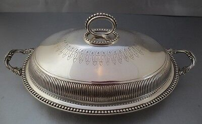 Victorian English Sterling Dome Lid Entree Dish! London 1864. 31 Troy Oz.
