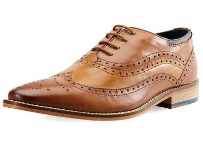 Goodwin Smith SAMPLES Men's Jack Oxford Tan Leather Brogue Shoes. Various Sizes.
