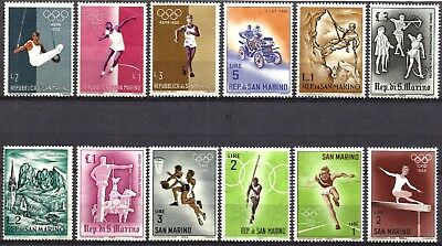 San Marino, Very Nice Thematic Selection Of 12 Different, All Mnh, Lot Sm04
