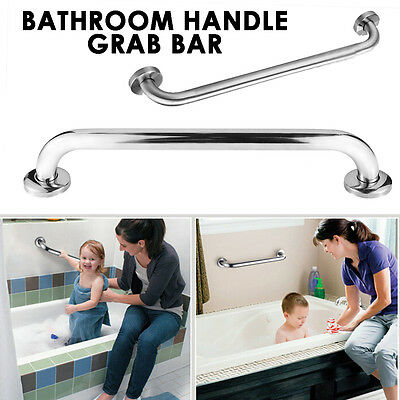 Grab Bar Stainless Steel Bathroom Mobility Support Handle Rail Disability Aid UK