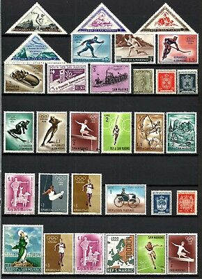 San Marino, Very Nice Thematic Selection Of 31 Different, Mnh 6, 25 Mh, Lot Sm05