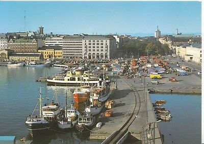 Finland Postcard - Helsinki - Market Place and The South Embankment -  Ref C1198