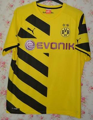 Bnwt 2014-2015 Borussia Dortmund Evonik Yellow Home Shirt Uk Mens Size Xl