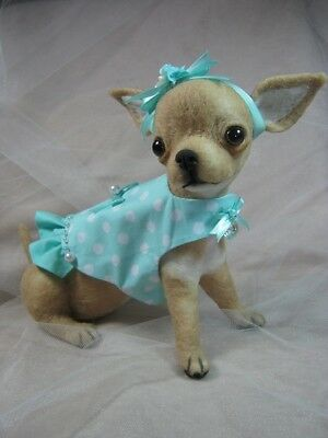 ~*OOAK Needle felted Chihuahua Puppy/Dog Dress*~