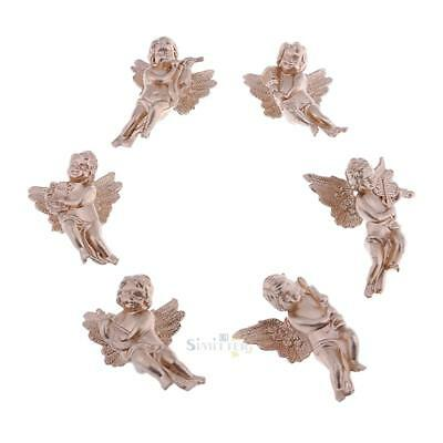 6 Kind/Bag Angel Shaped Ornaments Wings Christmas Xmas Party Decoration Ornament