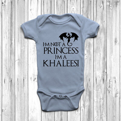I'm Not A Princess I'm A Khaleesi Baby Grow Body Suit Vest Game Of Thrones