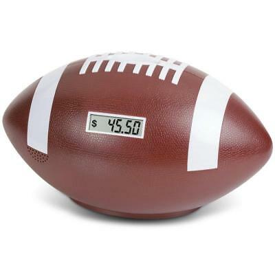 """Football Coin Counting Piggy Bank - Count Coins and Save Money 9"""""""
