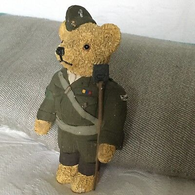 """Collectable Colour Box Teddy Bear - wee Dads Army Soldier """"Jonesy"""" 1995"""