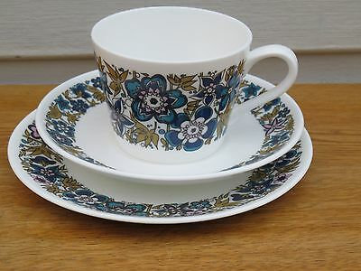 Vintage Royal Tuscan Nocturne Tea Cup Saucer Plate Trio