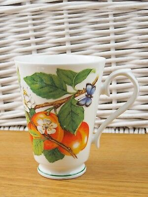 Roy Kirkham Botanica Fine Bone China Mug 1996 Peach Blossom
