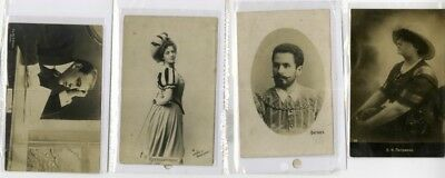 Russia Lot of 7 Opera Singer Picture Postcards