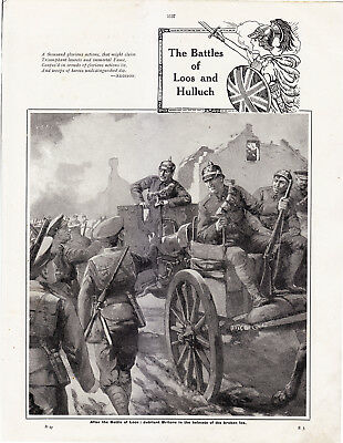 World War 1, Battles of Loos and Hulluch, 14 Pages