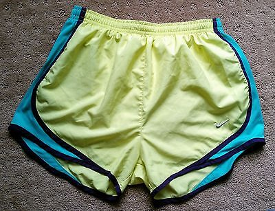 Yellow Women's Nike Tempo Lined Dri-Fit Running Shorts Sz S Athletic Green Panty