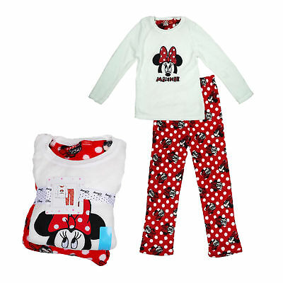 Girls Pyjamas Disney Minnie Mouse Fleece 7-13 Years Old