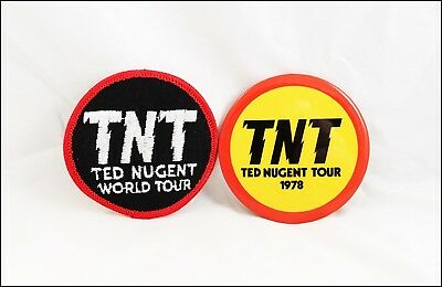 Ted Nugent 1978 World Tour Concert Button & Iron-On Patch 3 Inches