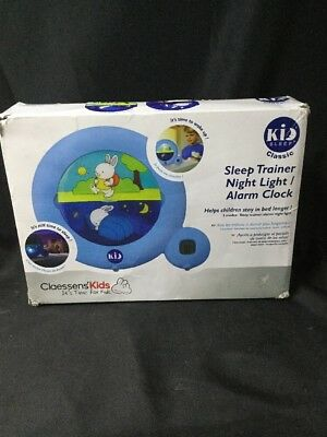 Claessens' Kids SLEEP CLASSIC Sleep Trainer Night Light & Alarm Clock (BLUE)