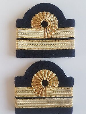 galons aviation, paire epaulette 2 bandes boucle nelson
