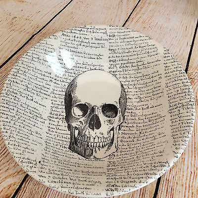 Royal Stafford - Skull - with script background - Medium Serving Bowl - Set of 2