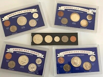 x1 - 1964 US Mint 90% Silver 5-Coin Set UNC BU United States - w/Plastic Cases