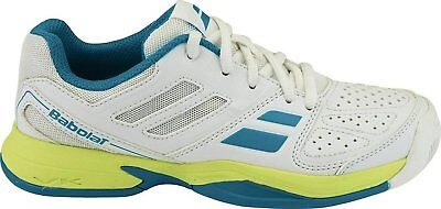 BABOLAT Pulsion All Court Junior Tennis Shoes Sneakers - White/Blue -Auth Dealer