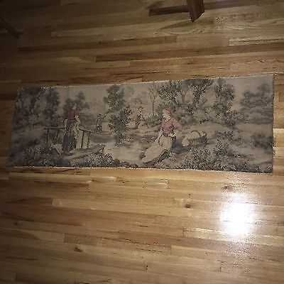Vintage Woven Tapestry Panel - Made In France