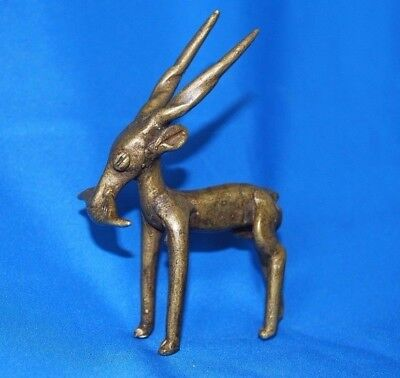 African Gold Weight Antelope With Fish, Unusual