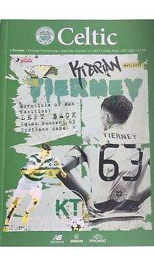Celtic v Dundee Oct 14th  2017 Mint Official Programme League