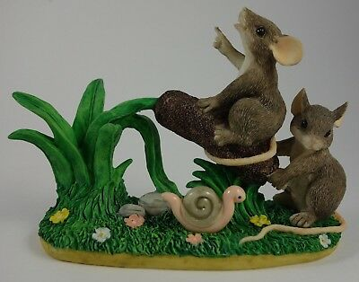Charming Tails CATTAIL CATAPULT Figurine 87/448 Mouse Mice Rat Snail