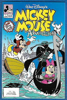 MICKEY MOUSE ADVENTURES # 1 (Disney Comics 1990)  (vf-)