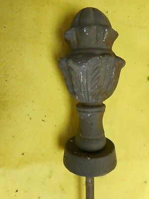 Vintage Cast Iron Post GROUND  YARD HOSE  Finial, Nice!!