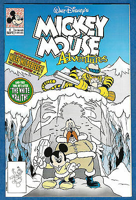 MICKEY MOUSE ADVENTURES # 4 (Disney Comics 1990)  (vf-)