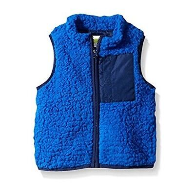 CRAZY 8 Toddler Boys Full Zip Sherpa Vest BLUE Size 3T 3 YEARS