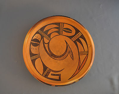 Old Traditional Hopi Pueblo Indian Pottery  Bowl - Spiral Sikyatki Design