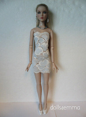 CAMI & Antoinette size clothes Sexy Blue Lace Dress & Jewelry HM Fashion NO DOLL