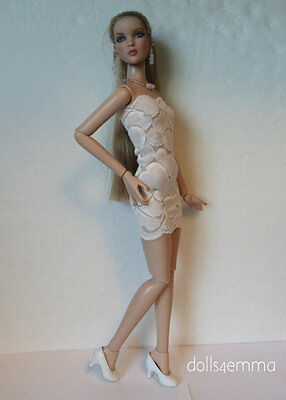 CAMI & Antoinette size clothes Sexy Pink Lace Dress & Jewelry HM Fashion NO DOLL
