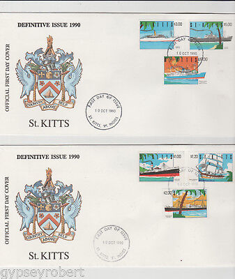 St Kitts   Ships  1990   Fdc Complete Set