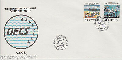 ST KITTS  Organization of East Caribbean States 1992   FDC
