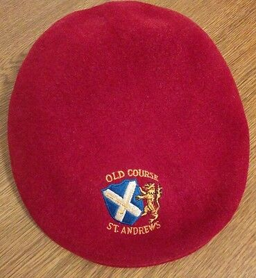 vintage ST ANDREWS Golf Old Course Kangol wool cap hat cabbie England