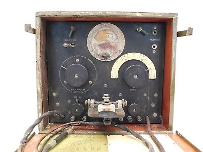 Vintage Signal Corps Us Army World War 1 Antique Nesco Bc-9-A Radio Telegraph