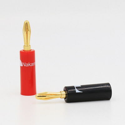8pcs Nakamichi ust Banana Plug Connector 24K Gold Plated speaker cable plug