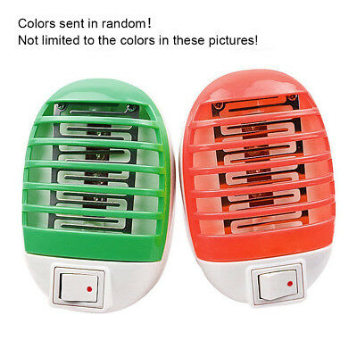 2W LED Electric Mosquito Fly Pest Bug Insect Zapper Killer Night Lamp US EU Plug