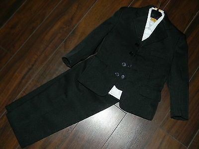 NWOT Nice boy wedding black suit`4 pcs,white shirt/pants/blazer and veste size 2