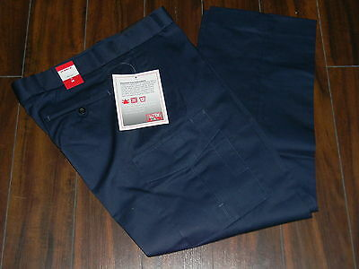 NWT Mens pants navy blue with pockets for work,thick fabric size 36/31