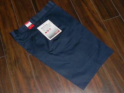 NWT Mens bermuda navy blue with pockets for work,thick fabric size 36