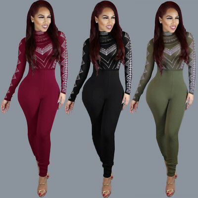 New Women Ladies Clubwear Long Playsuit Bodycon Party Jumpsuit&Romper Trousers
