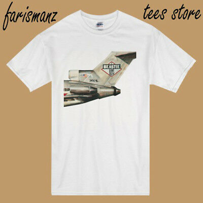 Beastie Boys Licensed To Ill Hip Hop Music Men's White T-Shirt Size S to 3XL