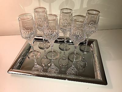 """6 Christophe Pillet """"Louis XIII"""" Crystal Glasses"""